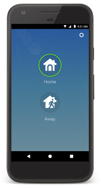 Nest app home away page
