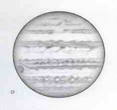 Photo: Jupiter le 11 avril 2016, au T406 à 350X en bino.
