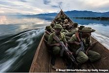 Rangers in boot onderweg