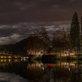 Bled by Aleš Mezek - City,  Street & Park  Historic Districts ( bled at night, bled, bled church, bled at full moon, bled island )