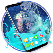 Gravity Water Astronaut Themes HD Wallpapers icons Icon