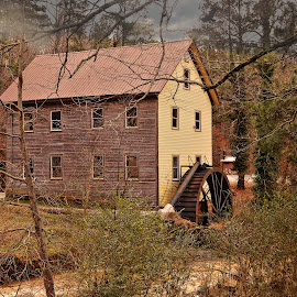 Sells Mill, Georgia by JEFFREY LORBER - Buildings & Architecture Public & Historical ( water wheel, historical, sells mill, lorberphoto, mill )