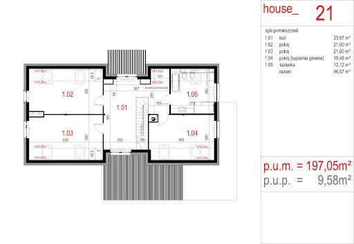 House 21 - Rzut poddasza