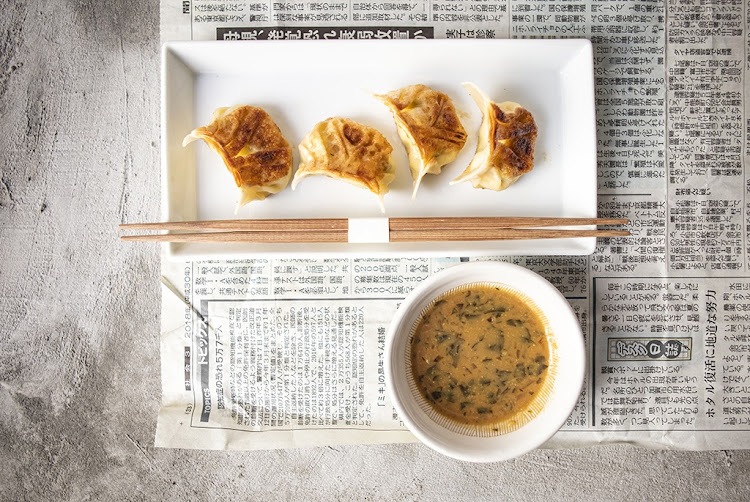 Stickman by Fyn's chicken gyoza (Japanese dumplings).