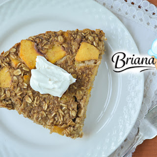 Ginger Peach Oatmeal Cake
