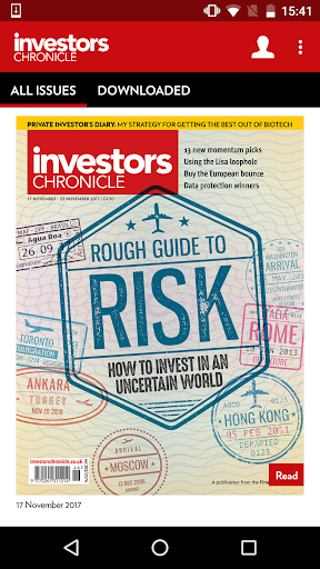 Investors Chronicle magazine for PC