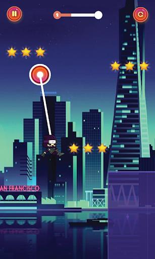 swing corde héros Ninja Jump  captures d'écran 3
