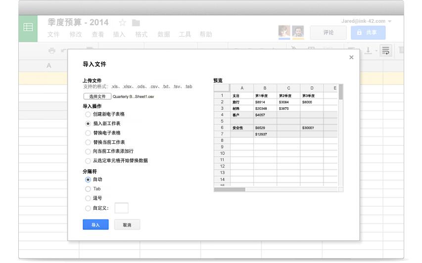 Google 表格 – 適用于企業的電子表格和數據分析工具