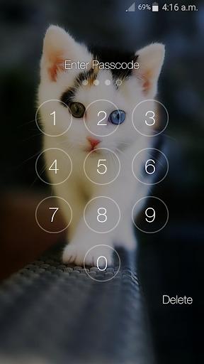 Kitty Cat Pin Lock Screen 6.2 screenshots 12