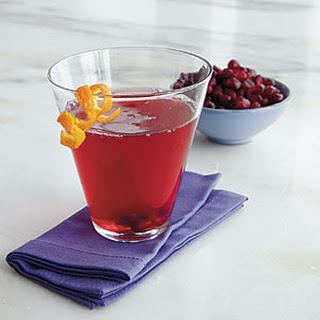 Pomegranate-Orange Martinis.