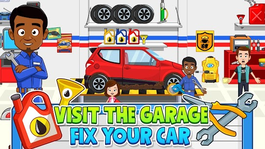 My Town: Car Garage Wash & fix kids car game MOD (Paid Content) 4