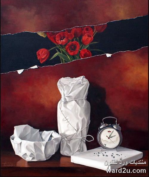 ابداع تصوير ما فوق اللوحه الفنان الايرانى Abdi Asbaghi
