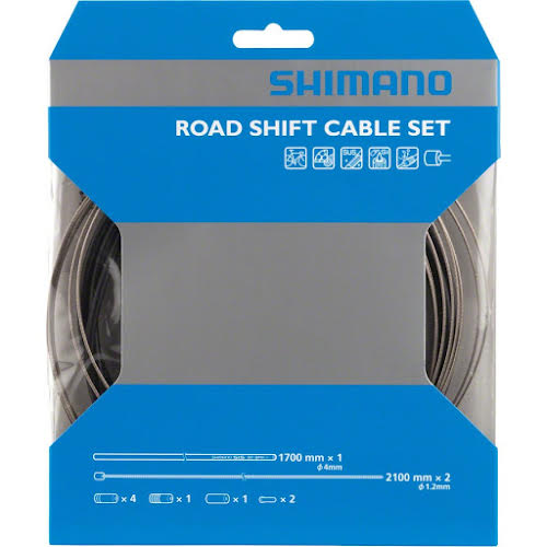 Shimano Road Stainless Derailleur Cable and Housing Set