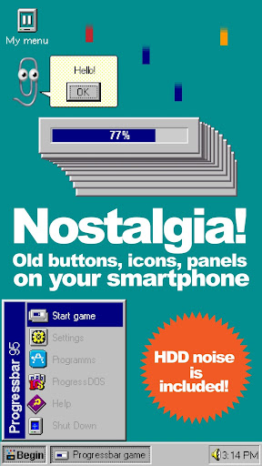Progressbar95 - easy, nostalgic hyper-casual game 0.40 screenshots 2