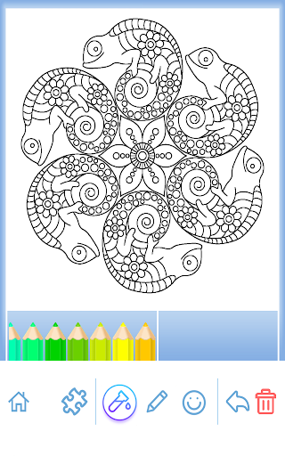 Livre coloriage animal Mandala  captures d'écran 1