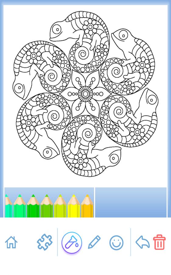coloring book animal mandala screenshot