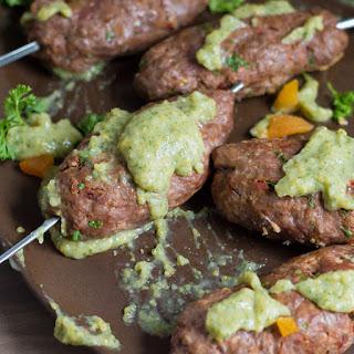 Lamb & Beef Kofta with Citrus Mint Dipping Sauce.