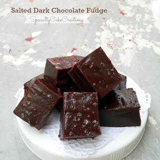 Salted Dark Chocolate Fudge.