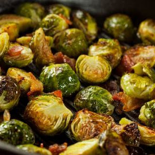 Cider-Braised Brussel Sprouts with Bacon & Apple Recipe