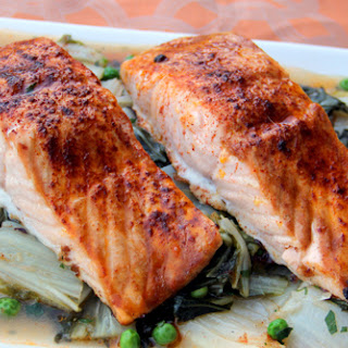 Easy Roasted Salmon and Bok Choy