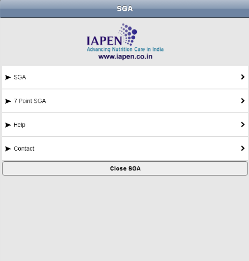 SGA Toolkit - IAPEN- screenshot