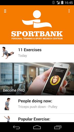 De Sportbank Fitness App