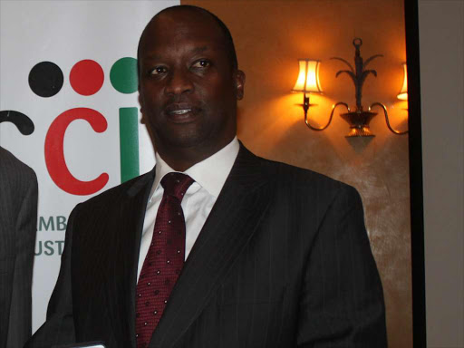 Chairman of Kenya National Chamber of Commerce and Industry Kiprono Kittony. /FILE