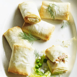 Smoked Salmon and Ricotta Filo Pies