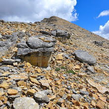Photo: Looking back at Mt. James as I descended to Triple Divide Pass.