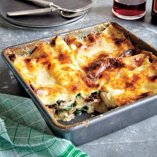 Chicken, Spinach, and Mushroom Lasagna.