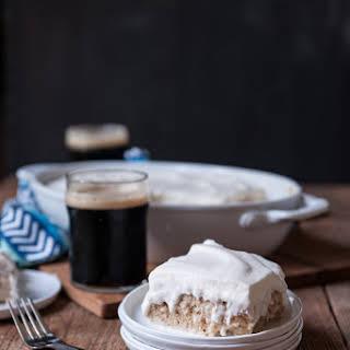 Coconut Porter Tres Leche Cake (dairy + egg free).