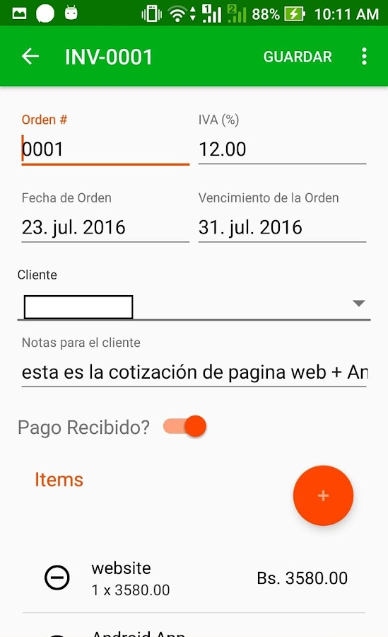 Cotizapp- screenshot