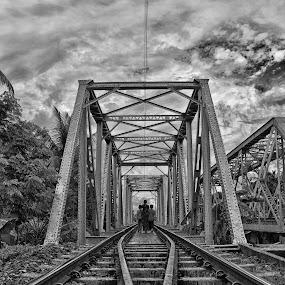 rail way track by  Bivahasutra Wedding Photography - Landscapes Travel ( nature, westbengal, kolkata, india, pwcbwlandscapes, landscape )