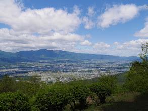 伊那市方面(左に経ヶ岳)