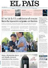 Photo: El 'no' de la UE a adelantar el rescate forzó la inyección urgente en Bankia, Obama se lanza a recuperar a los decepcionados por las promesas incumplidas, arranca la larga cuesta del IVA, Rajoy y Rubalcaba abren una batalla electoral centrada en los recortes y viaje atroz a una venganza, entre los titulares de nuestra portada del domingo 2 de septiembre de 2012.http://srv00.epimg.net/pdf/elpais/1aPagina/2012/09/ep-20120902.pdf
