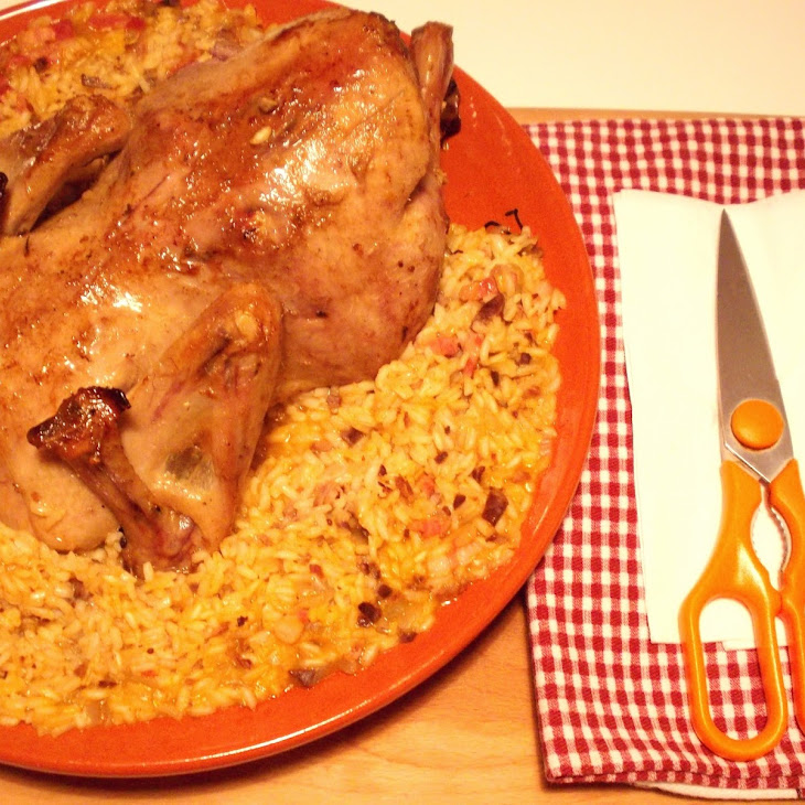 Roasted Duck with Giblet Rice from the Central Region (Coastal)