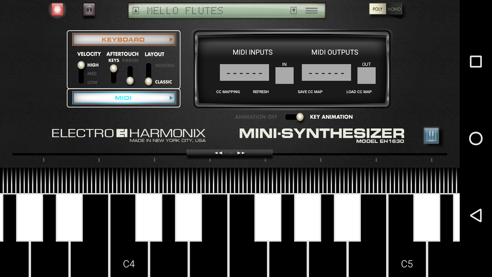 Mini Synthesizer for Phone- screenshot