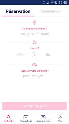 Zenpark, book a parking space - screenshot