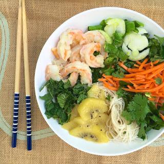 Vietnamese Noodle Salad With Shrimp + Kiwifruit