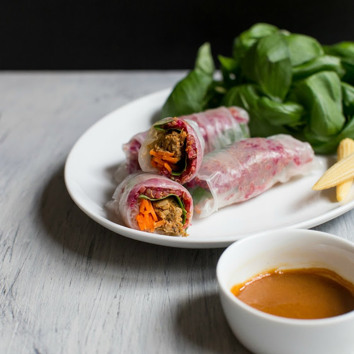 Vegan Vietnamese Quinoa & Jackfruit Summer Rolls Recipe