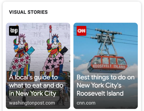 Web stories for top evergreen content