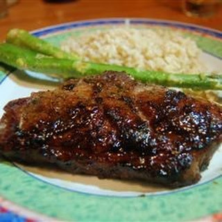 Grilled Lamb with Brown Sugar Glaze.