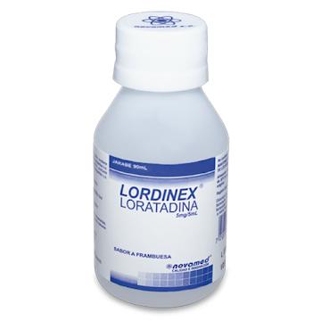Loratadina LORDINEX 5MG/5M JARABE FRASCO X 90ML LORATADINA NOVAMED