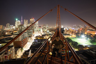 Photo: Photoshopped  I think someone Photoshopped me in this picture. Shot taken a long time ago...recently realized it was never shared outside my Facebook friends. It's a lazy blog day.  Read about the rooftopping photo that changed everything from +Tom Ryaboi's perspective (http://500px.com/blog/120) and +Jennifer Tse's perspective (http://pencilprism.com/ill-make-myself-famous/).  #rooftopping #toronto #crane #construction #selfportrait #urbex #urbanexploration
