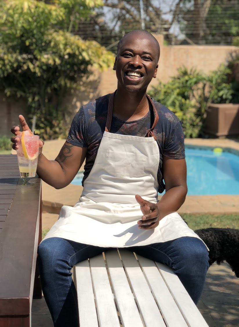 Themba Gwejela culinary creations kitchen.