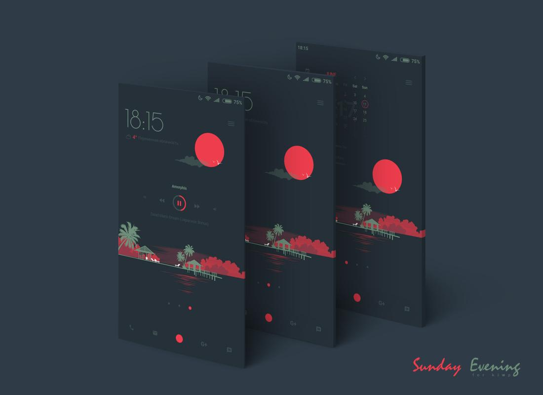 Sunday Evening for KLWP- screenshot