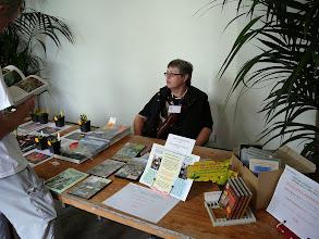 Photo: Irmgard Hartmeyer at the stand of Hunting Veggies.