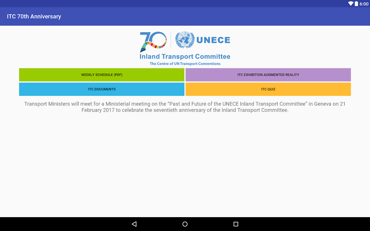 UNECE 70th ITC Anniversary- screenshot