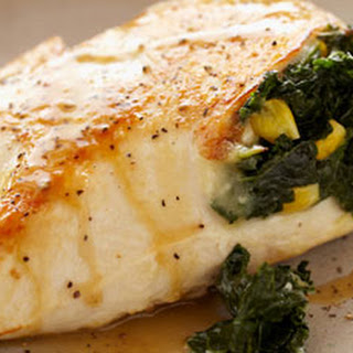 Spicy Kale and Corn Stuffed Chicken Breasts.