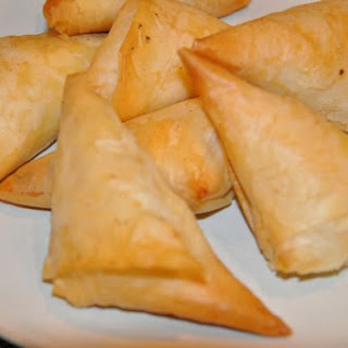 Phyllo Cheese Triangles.